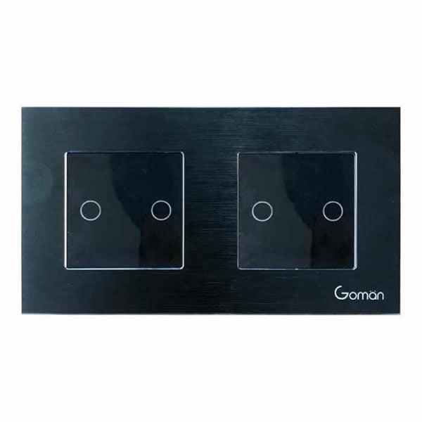 Công tắc thông minh mặt đôi 2 nút GOMAN GM86-W2DB2S/B/G